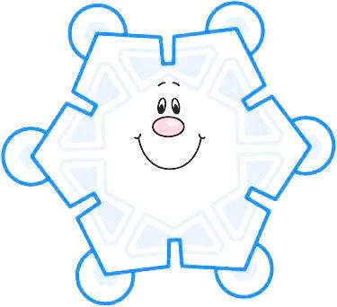 Snowflake blue