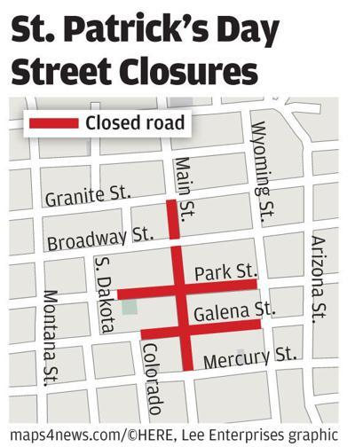 St. Patrick's Day street closures