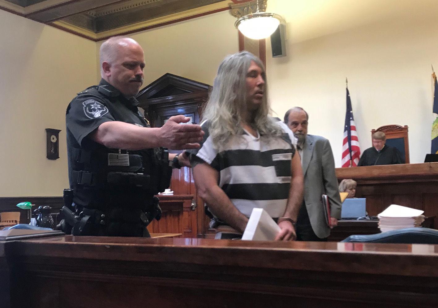 A Powell County Sheriffu0027s Deputy Escorts Josiah Wright From District Judge  Kurt Kruegeru0027s Courtroom In Butte On Thursday Following Wrightu0027s  Arraignment On ...