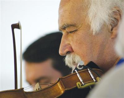 Fiddler's paradise… Michael Doucet performs a solo on the fiddle at