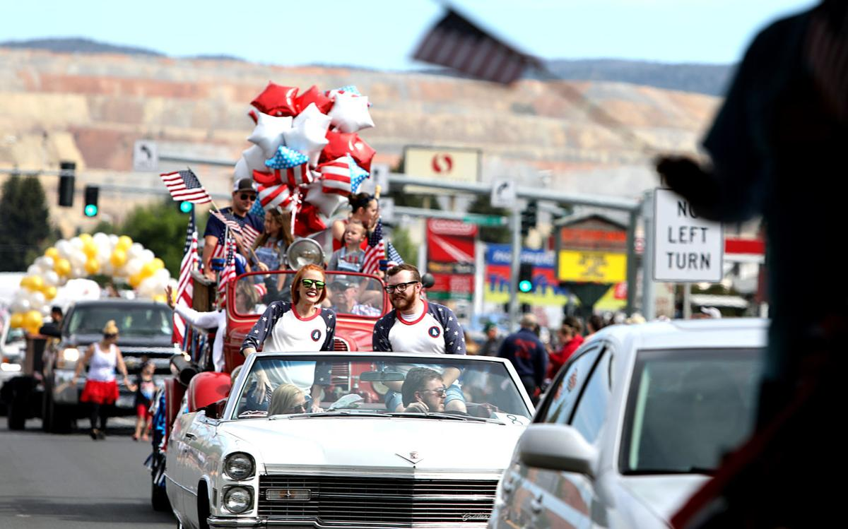 Fourth of July parade co-marshals lead the Mining City parade and give a message of hope