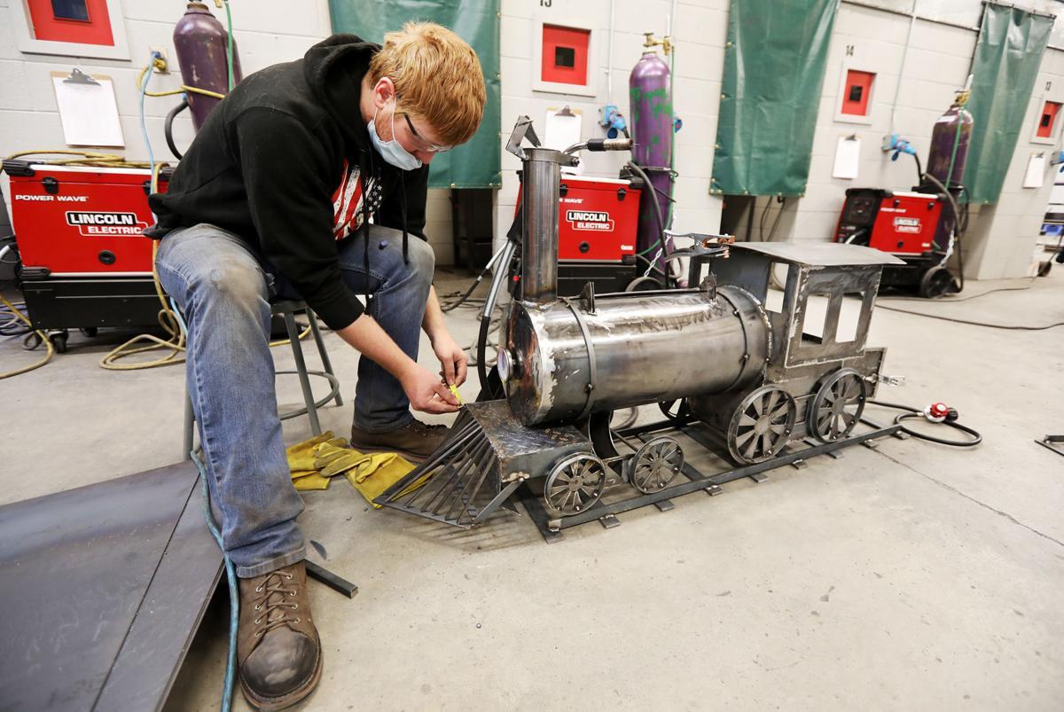Highlands College students test their welding skills