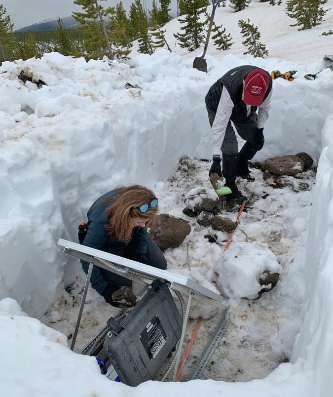 Buried monitor