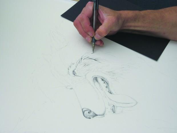 Zach Babat drawing