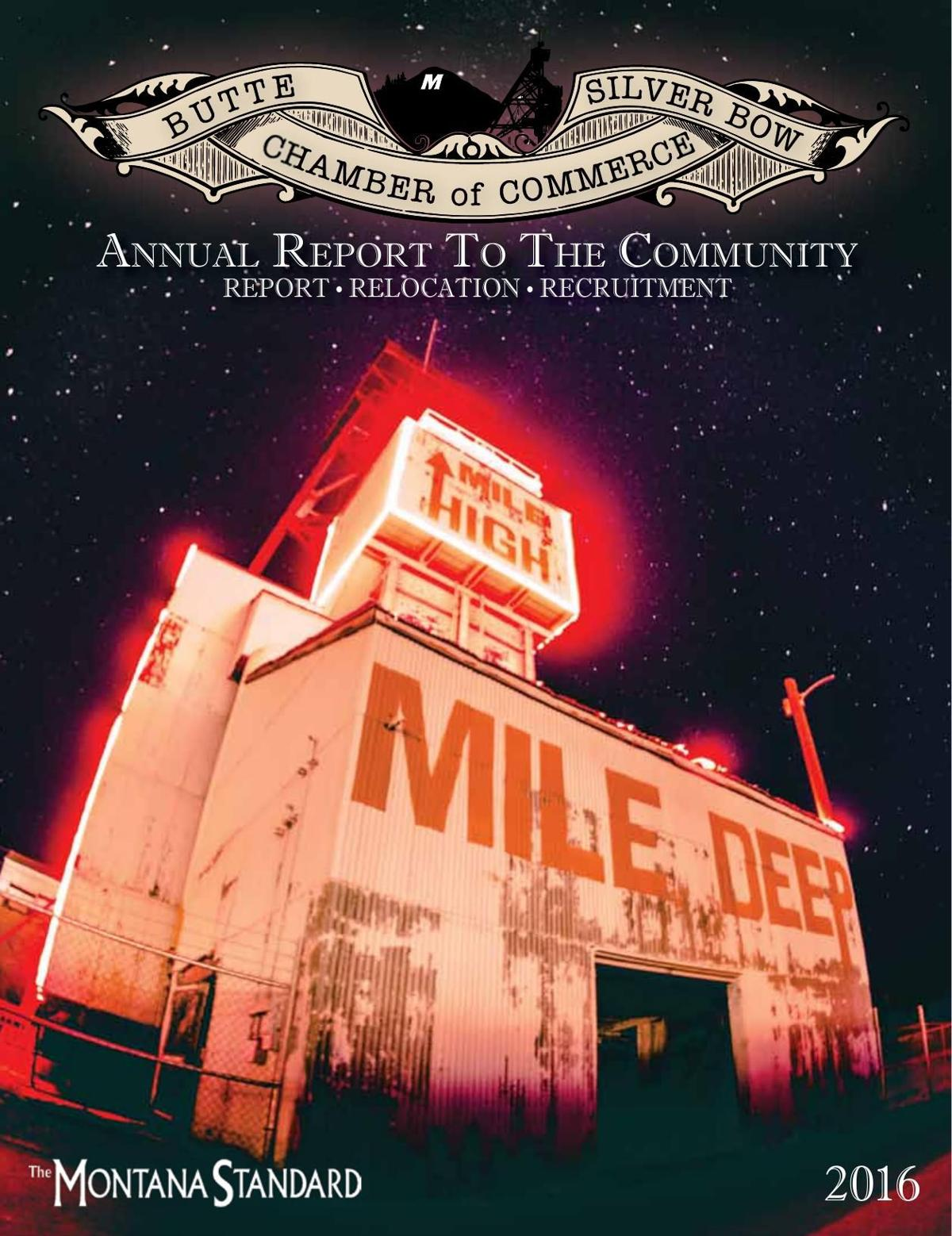 Butte Silver Bow Chamber of Commerce Report to the Community