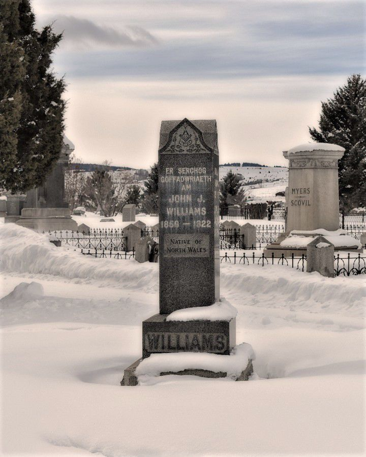 Welsh headstone