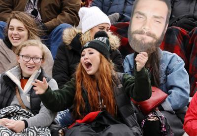 Fans cheer on the Montana Tech football team