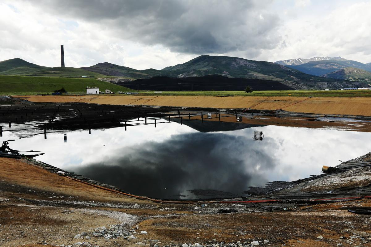 Slag piles give Anaconda's wastewater treatment facility problems
