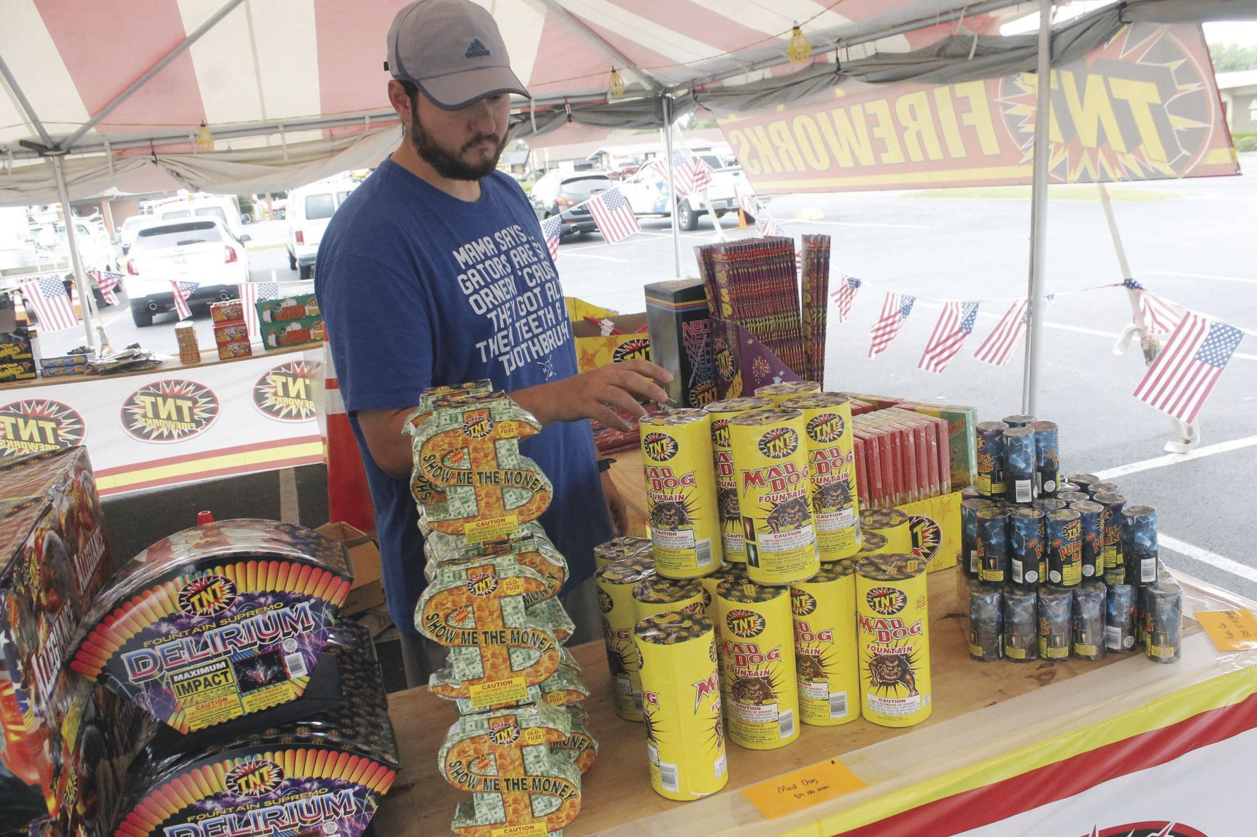 Cody Brown of TNT Fireworks shows off some of his most popular items Thursday afternoon at a tent in downtown Murray. Several of these tents have popped up ... & Fire marshal offers fireworks safety tips | Local News ...