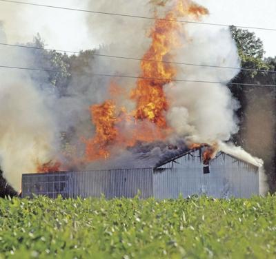 Tobacco barn fire
