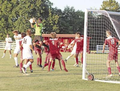 Calloway County goal keeper Landon Houk