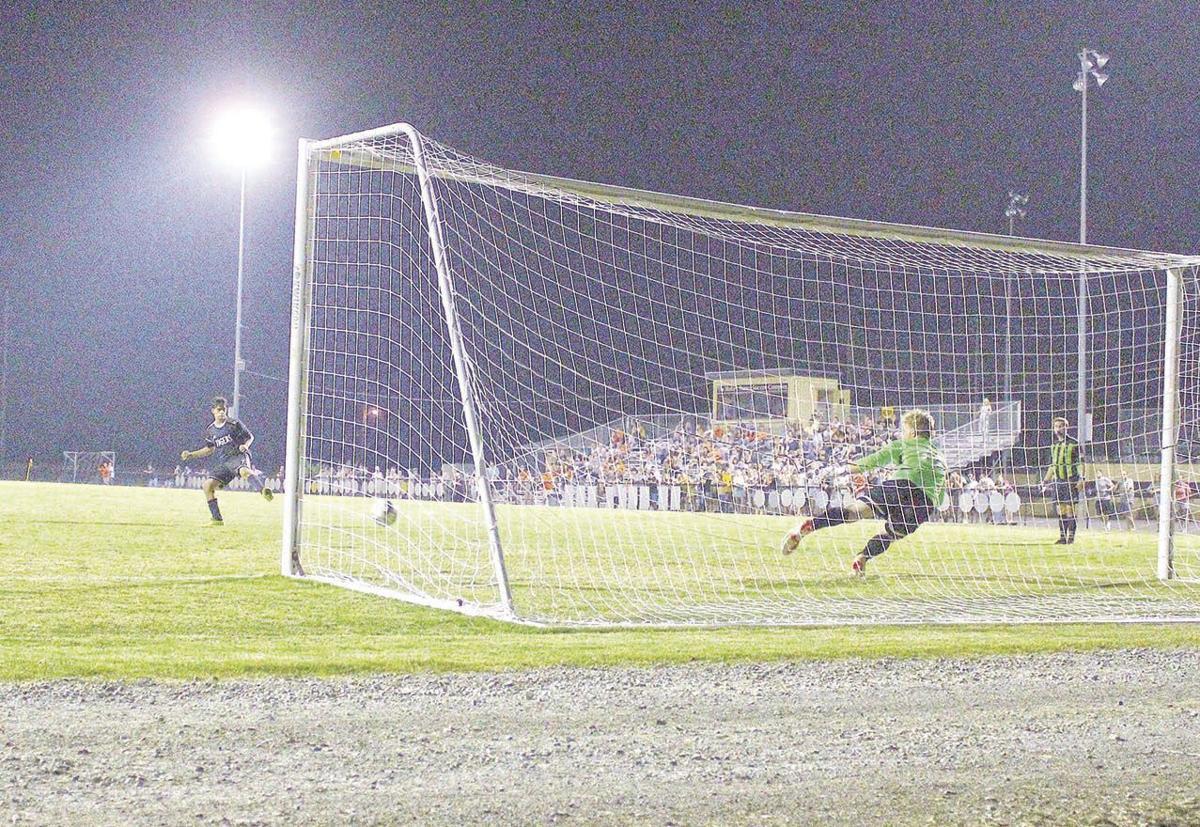 Penalty kick for Michael