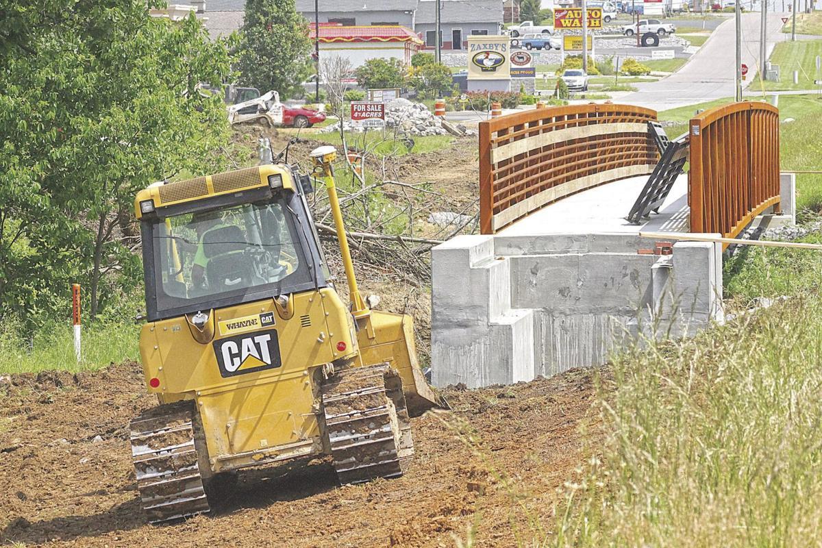 City sidewalk bulldozer