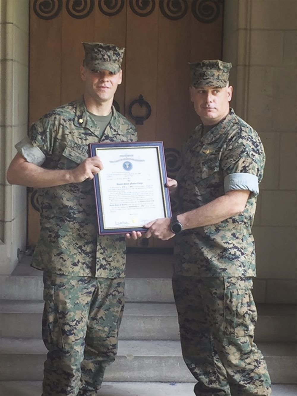 Collins receives promotion in U.S. Marine Corp