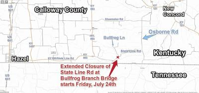 State Line Road closure