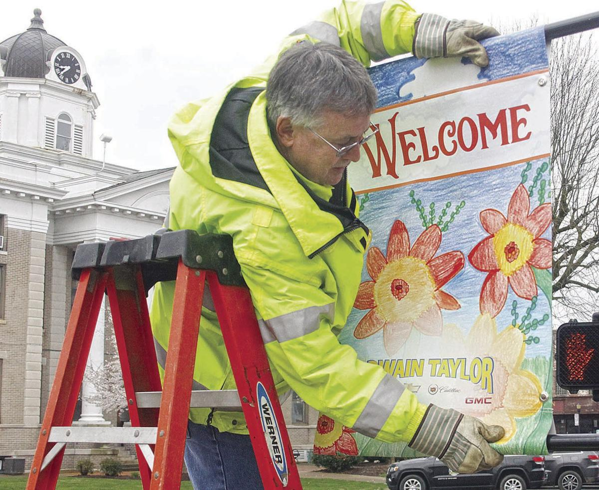 Spring banners Installation