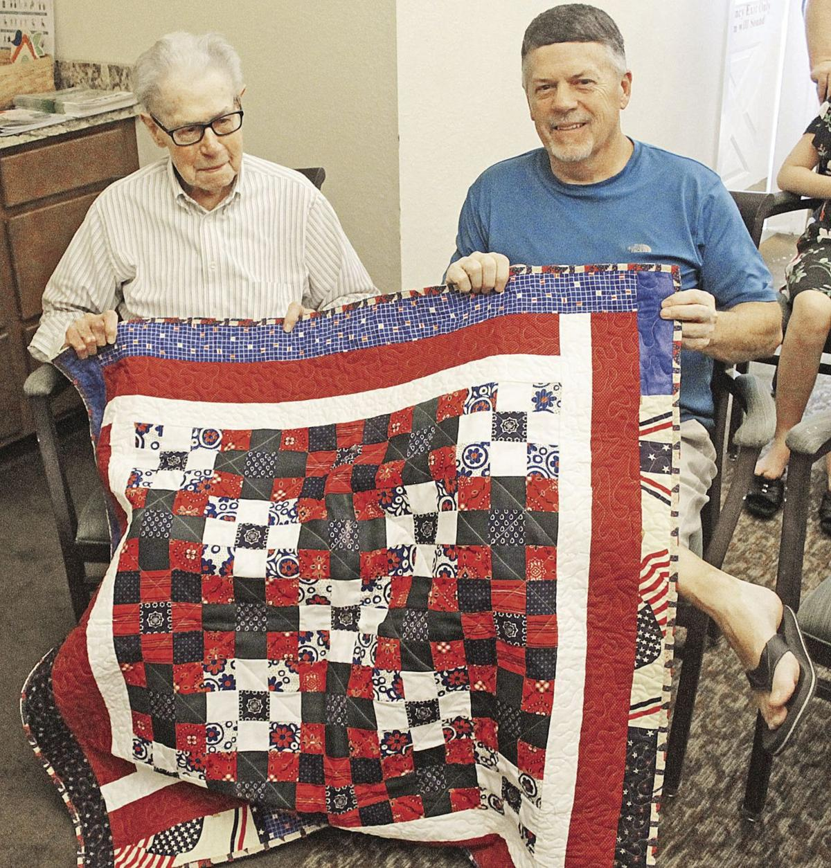 Quilt father and son