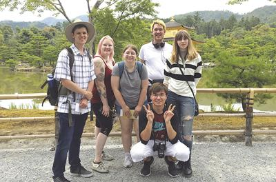 Murray State students in Japan