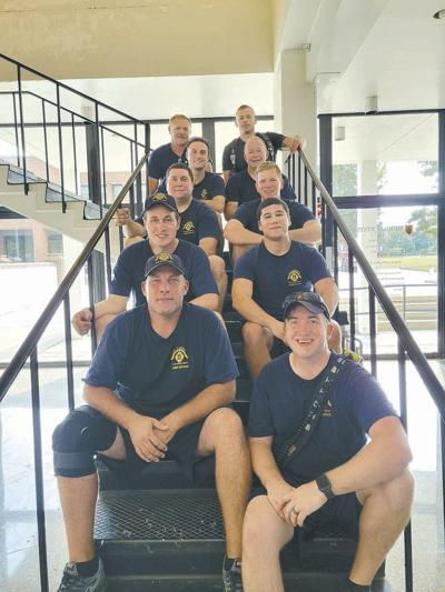 MFD firefighters pay tribute by climbing stairs on MSU campus