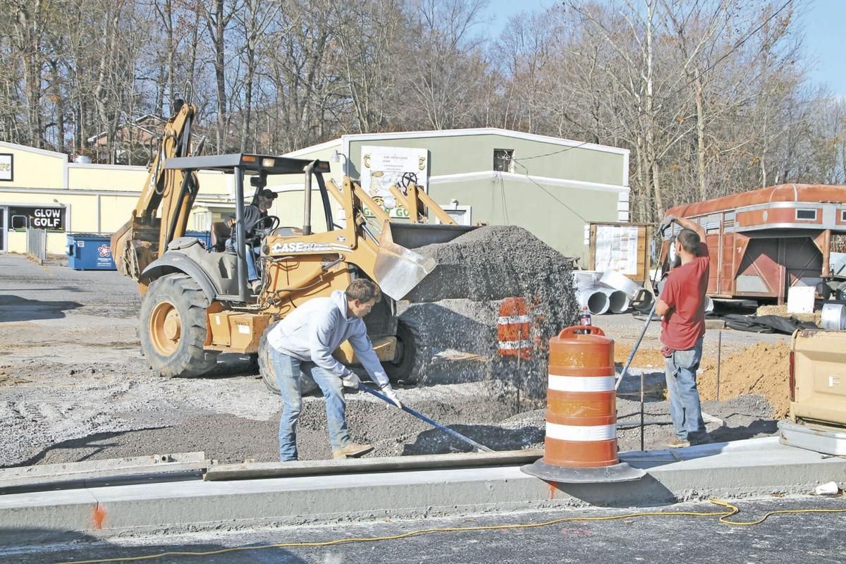 Highway curb work