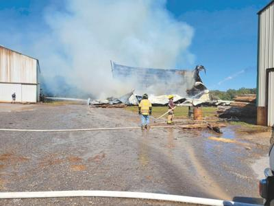CCFR responds to tobacco barn fire northeast of Murray