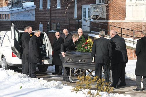 Carter funeral casket