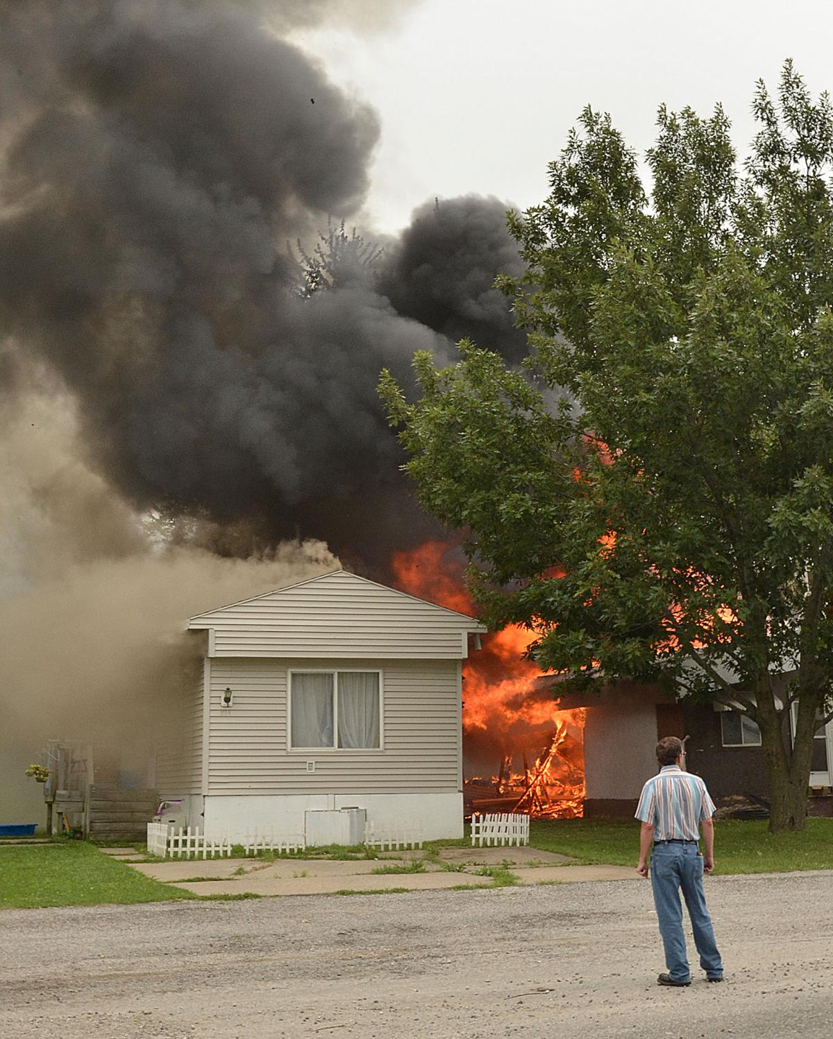 Fire Tears Through Homes In M&W Mobile Home Park