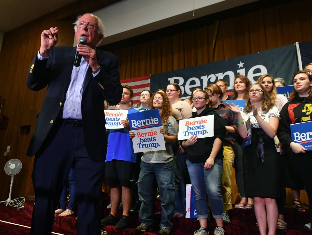 Presidential candidate Sen. Bernie Sanders in Clinton, Iowa.