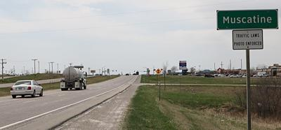 Traffic cameras in Muscatine were turned back on June 18.
