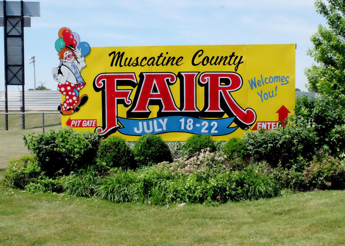Muscatine County Fair Sign