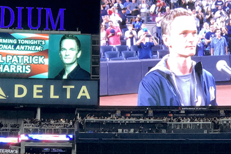 Neil Patrick Harris did an impeccable job singing the national anthem at the Yankees Game