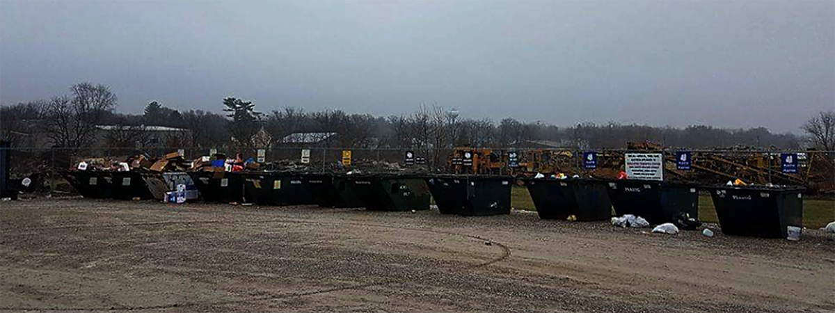 west libertys recycling site had a trouble with dumping once the new facility is completed citizens will have a curbside service for recycling