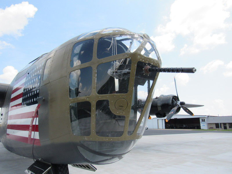 Aircraft arrive for Commemorative Air Force AirPower Tour