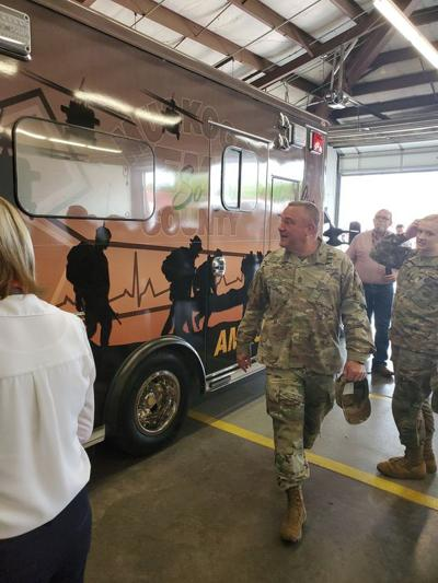 EMS honors veterans with new ambulance