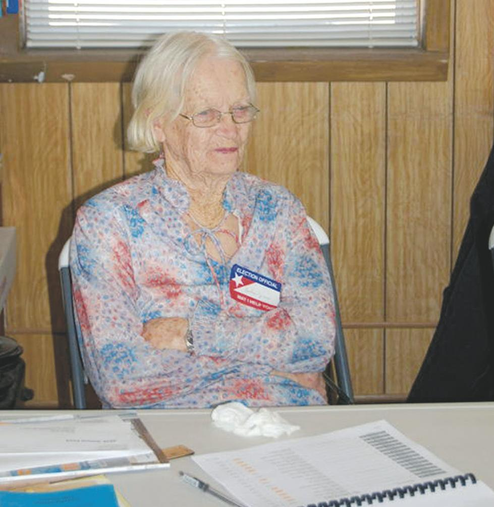 Lincoln County poll worker Evelyn Jones