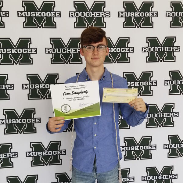 Volunteer service earns four students cash awards