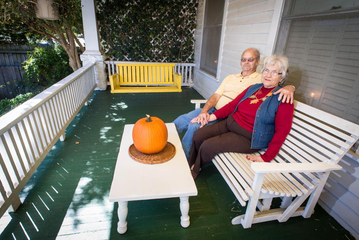 Morans on their porch