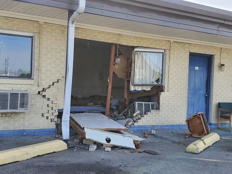 Motel damaged, woman kidnapped in early morning attack