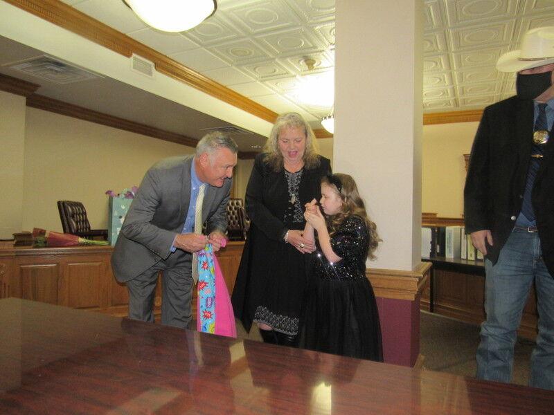 Hilldale student presented with TinySuperhero cape