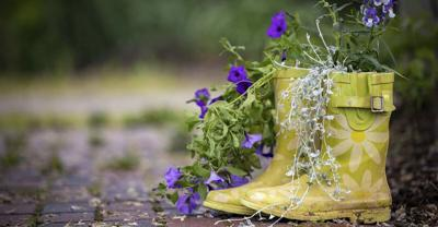 Upcycling can turn unused items into great gardening containers
