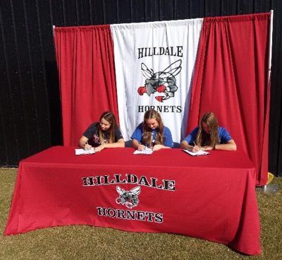 Hornets sign softball letters