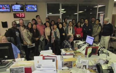 Journalists from around the world visit the Phoenix
