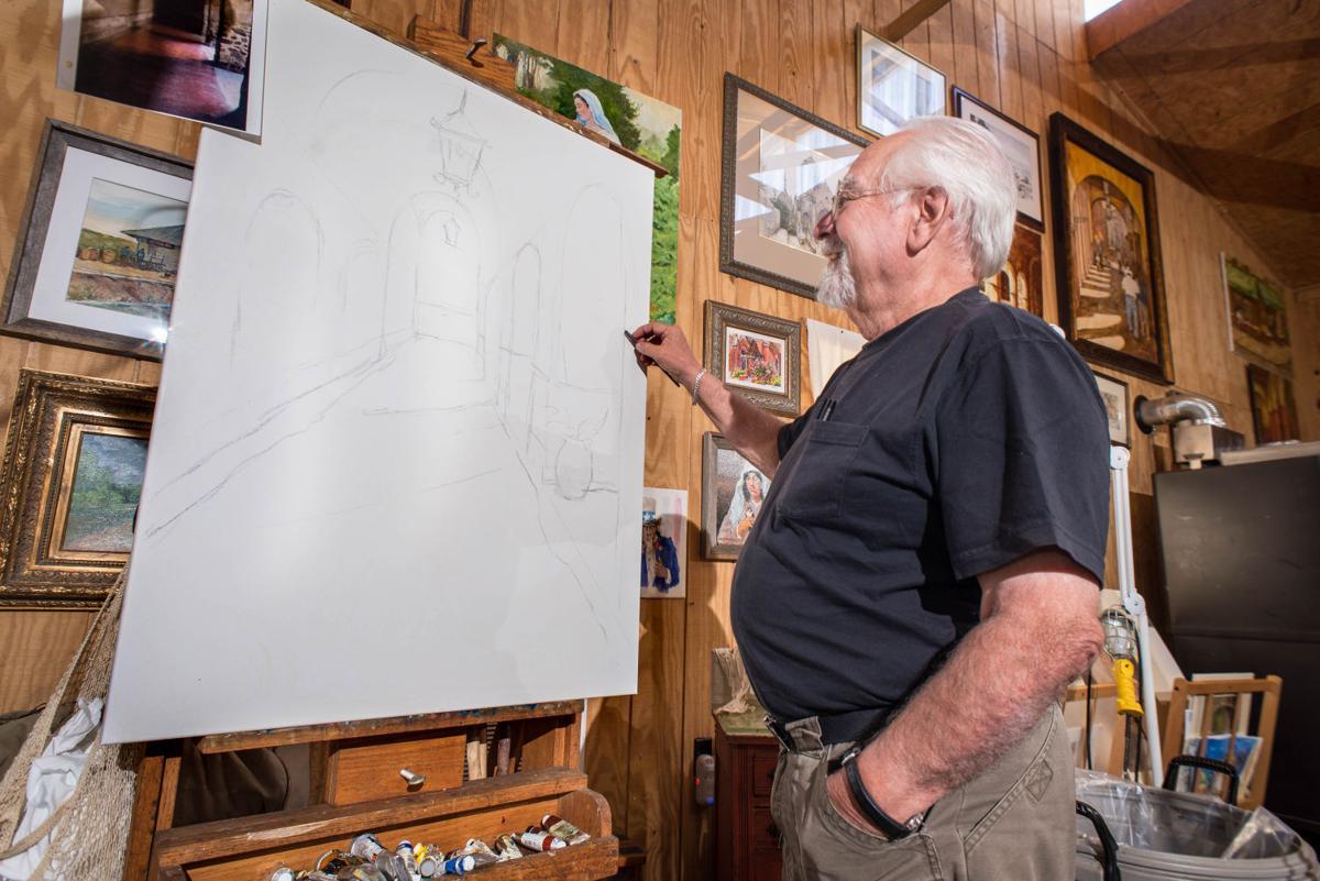 Peterson sketches scene