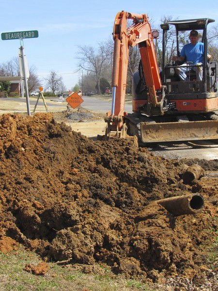 Installing new water lines