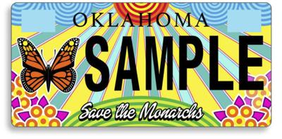 Orders being taken for monarch license plate