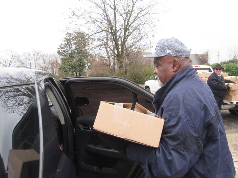 Hands Halting Hunger Community Food Box Giveaway planned