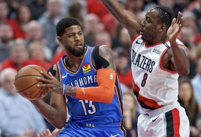 Clippers Thunder Trade Basketball