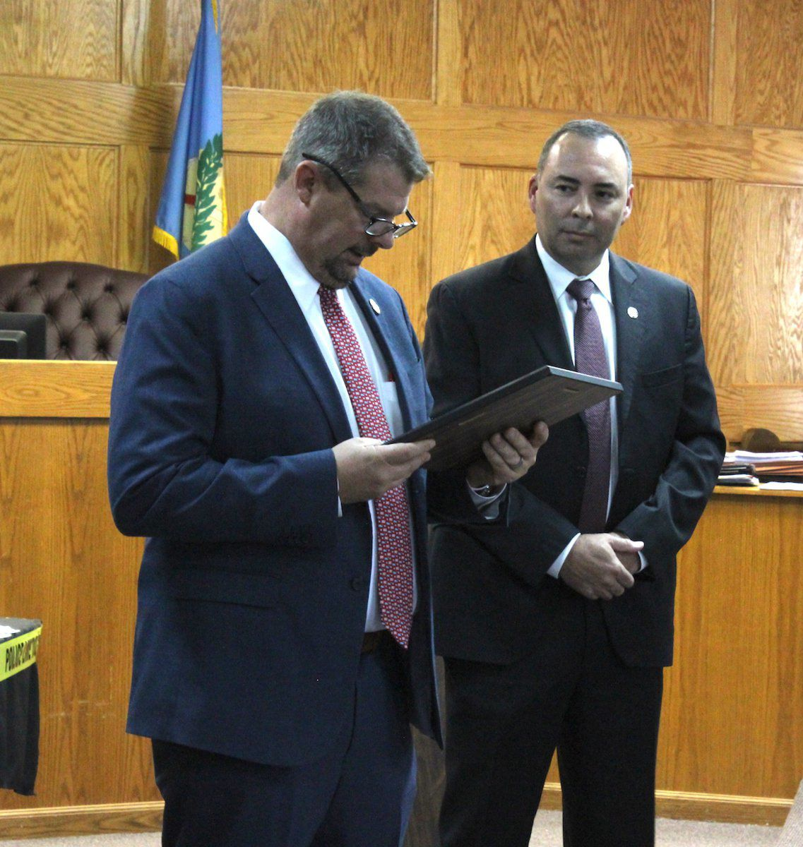 Area law officials honored by district attorney