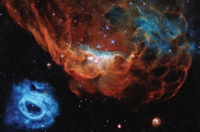 NASA Hubble banner on display here