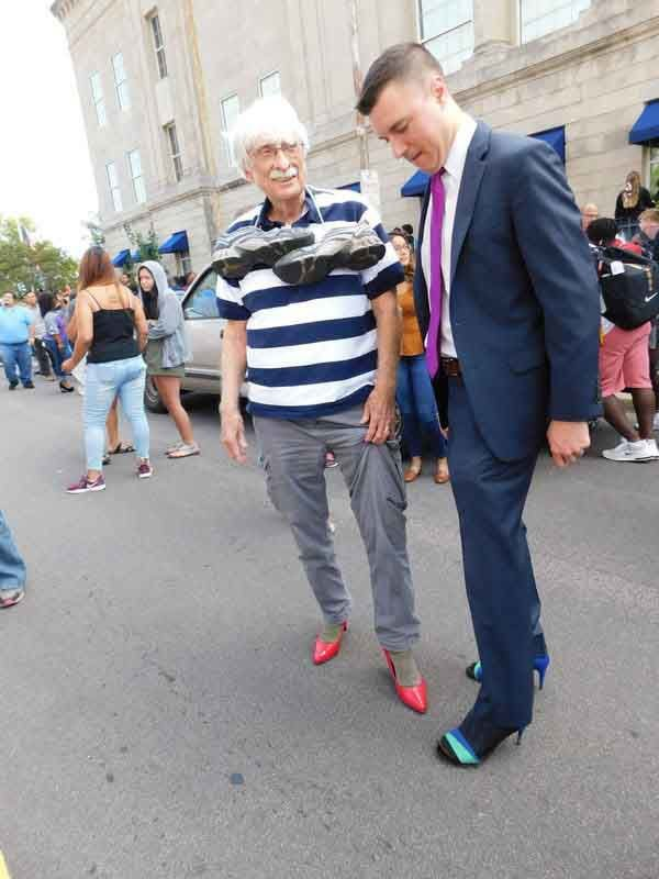 Residents walk to end domestic violence